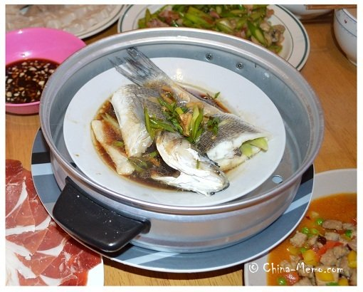 Chinese Steamed Fish Dish.
