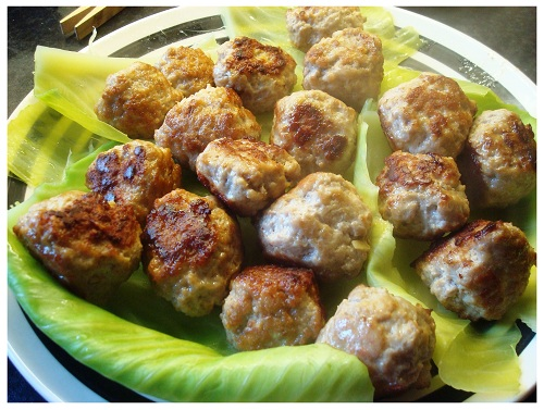 Homemade Chinese Sweet Sour Meatball.