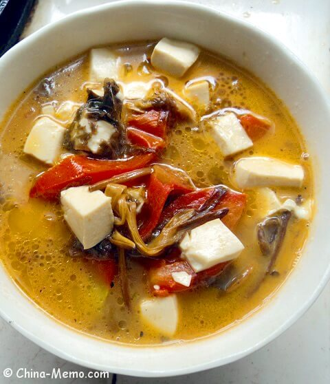 Chinese tomato tofu soup video chinese tomato tofu soup forumfinder Image collections