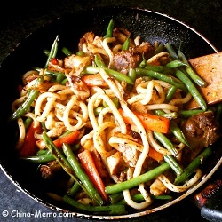 Chinese Fried Noodle Chicken