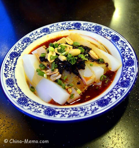 Chinese Spicy Cold Mung Noodle