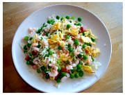 Chinese Food Recipe Egg Fried Rice.