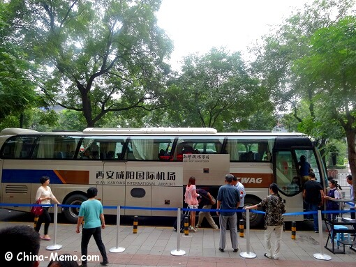 Xian Airport Shuttle Bus Final Stop at Melody Hotel.