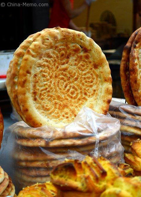 China Xian Muslim Street Flat Bread
