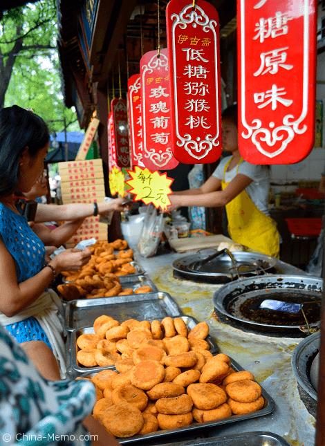 Xian Muslim Street Food, Persimmon Cake Stall.