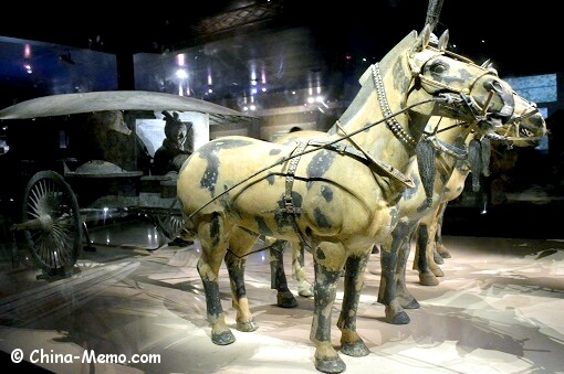Xian Terracotta Army. The Bronze Chariot and Horses.