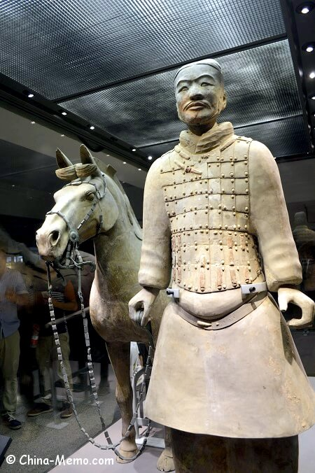 Xian Terracotta Army Pit No.2. Soldier with Horse.