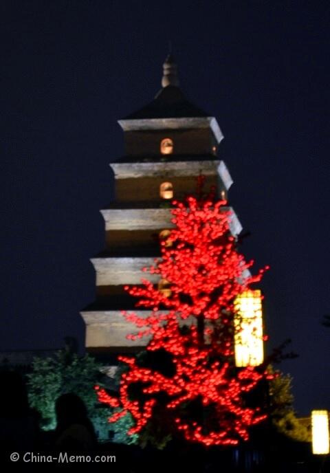 Xian Dayan Pagoda Night View