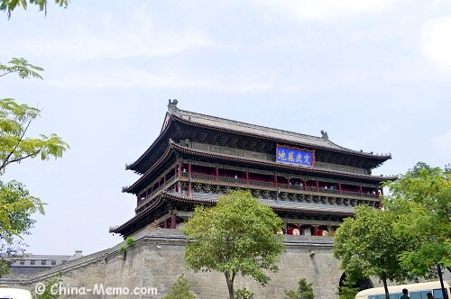 China Xian Drum Tower Left View.