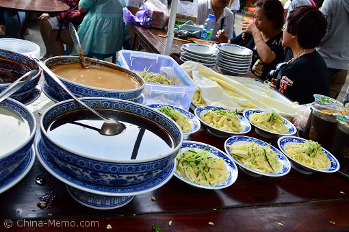 Xian Muslim Street Cold Noodle Stall.