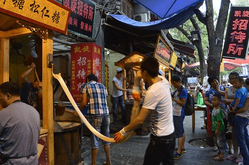 China Xian Muslim Street. Hand-Pulled Candy.